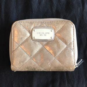 Metallic Gray Michael Kors wallet